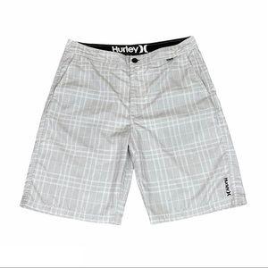 Hurley Legion WalkShort Plaid Gray Men's Shorts